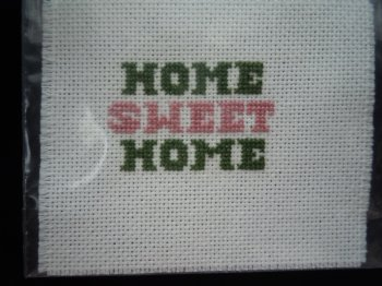 Handcrafted Needlework -Home Sweet Home