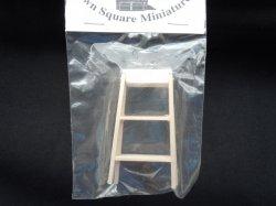 1/12 scale wood step ladder