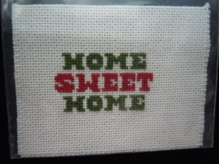 Handcrafted Needlework -Home Sweet Home - Click Image to Close