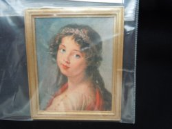 Framed Print - Girl Looking Over Shoulder