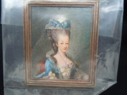 Framed Print - Lady in Blue Gown/Hat