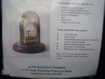 Grandtline - 1/4 scale Aunt Martha's Window Kit