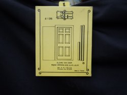 Miniature House Door - Sliding Oak Door