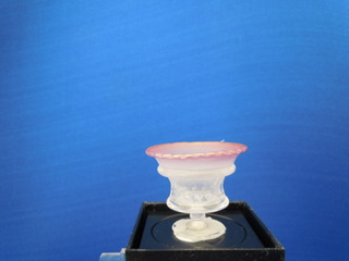 Clear bowl on pedestal